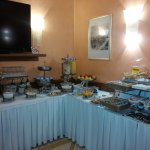 Breakfast buffet. This was taken before everything had been put out.