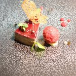 Tarte fine foie gras fruits rouges
