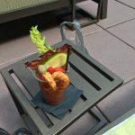 Poolside Bloody Mary with house made Anaheim pepper infused vodka. Yum.
