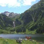 Der Bodensee mit Wasserfall