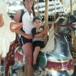Grandson's first carousel ride