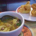 Wonton Soup and Shrimp Rangoon.