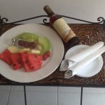 Fresh fruit and wine on arrival in your room