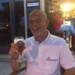 Una cerveza en el terraza