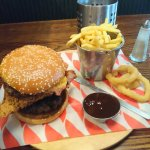 Amazing burger and fries