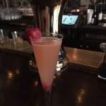 Strawberry champagne cocktail- delicious!