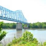 The historic Ravenswood Bridge spanning the Ohio River.