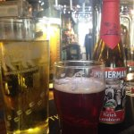 We had a cherry beer and a draught cider - both excellent