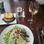 onion soup, green salad, Bordeaux Blanc