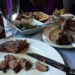 Rack of lamb and steak