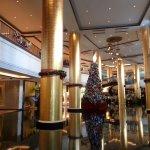 Elegant lobby of Dusit Thani.