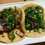 Street tacos chicken and beef