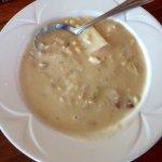 Crab & corn chowder.
