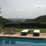 Spectacular views of the valley and Pienza from the beautiful pool and grounds. Comfortable beds
