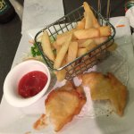 Roast duck and rice Fish and chips