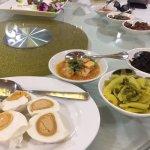 Teochew porridge and condiments