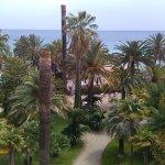 le beau jardin et la vue mer