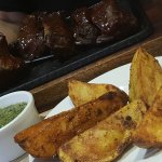 Ribs were very good and work really well with the texas fries and creamy spinach
