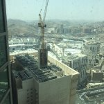 View of the heavy constructions near The holy Mosque