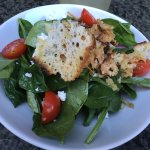 great looking croutons on a sourly-dressed salad