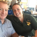 Owner Teresa with me at Airfield Cafe