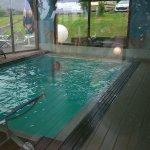espace détente ,pas trop mal piscine 5-6 m et hamman