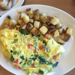 Only place was open @9:00 am on Saturday ! Yummy Omelette