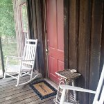Front porch of our cabin