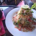 Khmer style papaya salad