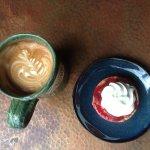 Latte and Fruit Tart at The Artisan