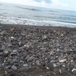 Rocky beach (about 2m wide along the whole stretch)