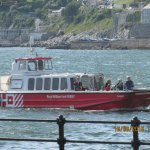 One of the water taxi's from the Barbican.