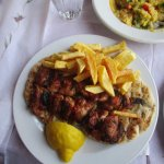 chicken souvlaki (odd offputing flavor)
