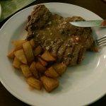 Steak im Tontopf und Lachseintopf