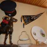 RCMP theme knick knacks in Room 2