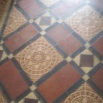 Original Minton floor tiles, entrance hall.
