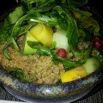 Vegeterian delight: quinoa salad!