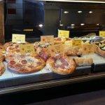 Pizzas and brioches