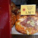 Prosciutto and mozzarella brioche
