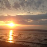 Beautiful sunset over Bay of Fundy
