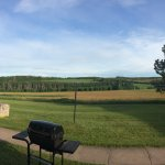 Panorama view from the rear of the motel.