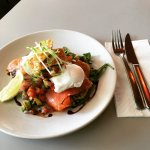 Zucchini Fritters with Salmon or Bacon