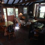 This is the living/dining room in our cabin.