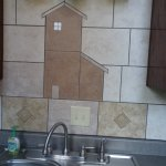 Love the tile design in the kitchen!