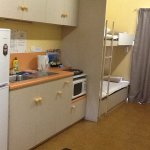 Kitchenette and bunk beds