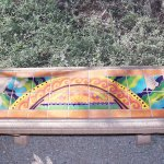 One of many decorative benches