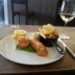 Crisp fish and chips