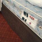 El colchón de nuestra habitación, gran decepción en un hotel... Pensaba que había vuelto a los 9