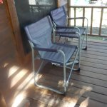 Cabin front porch chairs