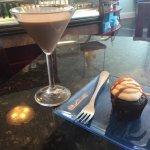 martini and cupcake